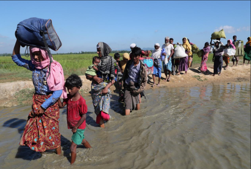 Rohingya Walking